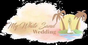 logo for my white sand wedding