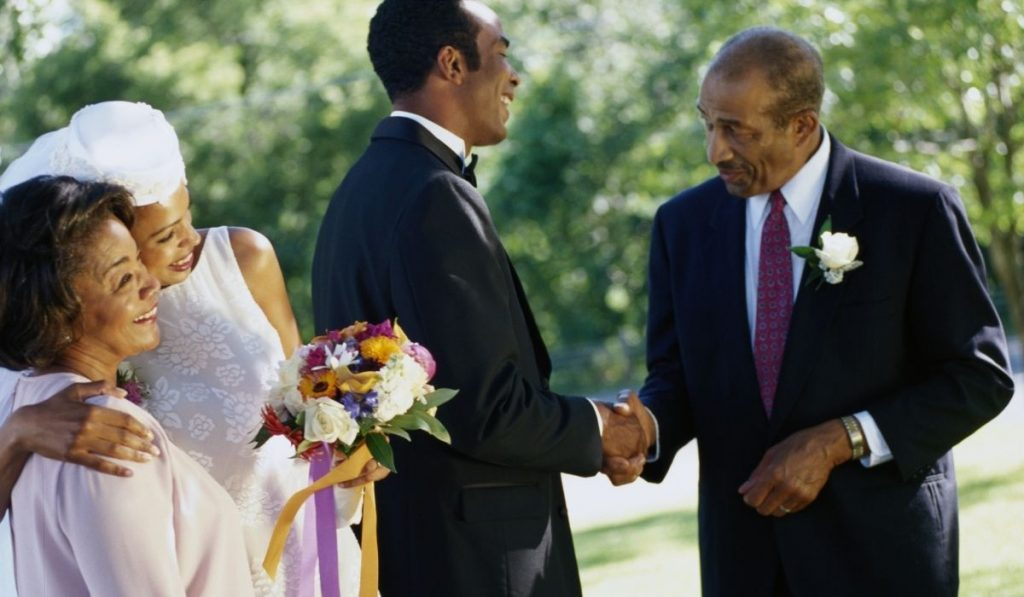 Father of the Bride Shaking Groom's Hand