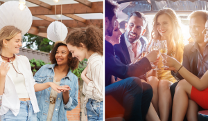 photos of parties side by side